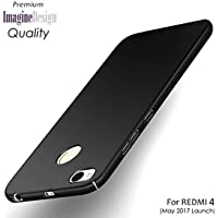 WOW Imagine All Sides Protection 360 Degree Sleek Rubberised Matte Hard Case Back Cover for XIAOMI MI REDMI 4 - Pitch Black