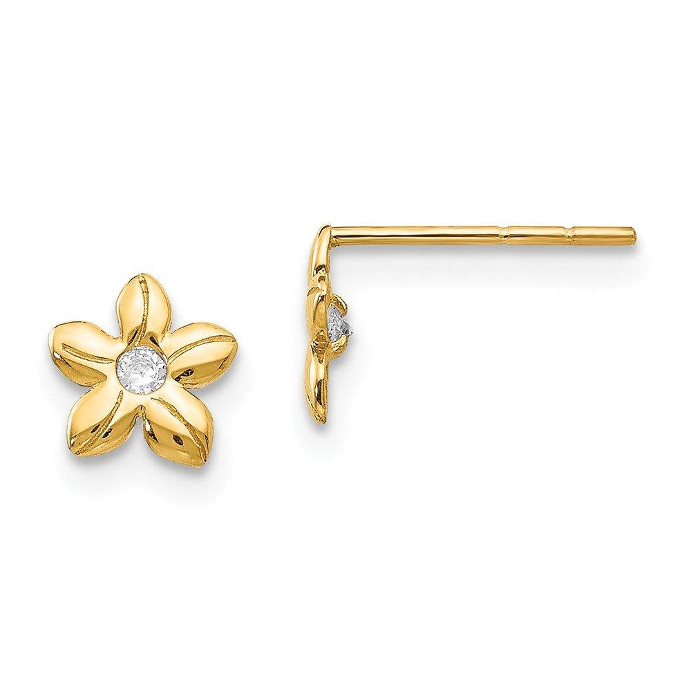 Millefiori 1000 Flowers Post Earrings Yellow and Blue Nickel Free 8mm