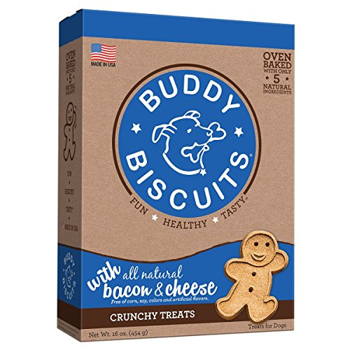 Cloud Star Buddy Biscuits Dog Treats, Bacon And Cheese Flavor, 16-Ounce Boxes (Pack Of 6) (Biscuits Cheese Best)