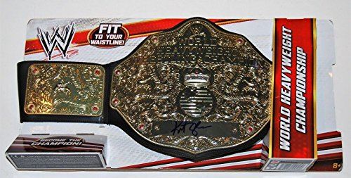 Athletic Heavyweight Belt (KURT ANGLE signed (WWE WORLD HEAVYWEIGHT) *WRESTLING* CHAMPIONSHIP BELT W/COA A - Autographed Wrestling Robes, Trunks and Belts)