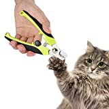 Cat Nail Clippers Dog Cat Nail Trimmer Dog Cat Rabbit Bird Nail Scissor Stainless Steel Pet Claw Cutter Professional Pet Grooming Tool with Safety Guard and Nail Grind File