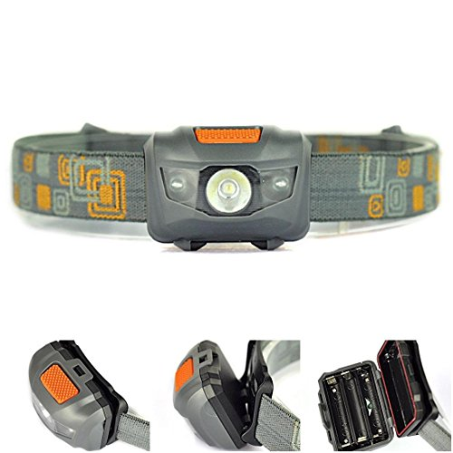 Crucial Popular Mini LED 300LM Headlamp Powerful Pocket Light Outdoor Camping Color Gray and Orange