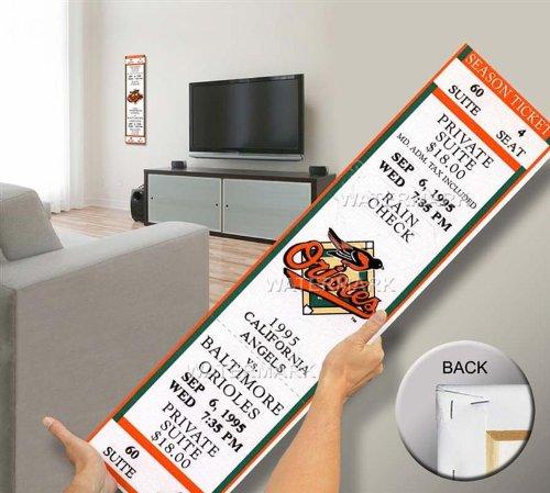 That's My Ticket Cal Ripken Jr 2,131 Mega Ticket Wall Decor, Baltimore Orioles Baseball Ticket Wall Art