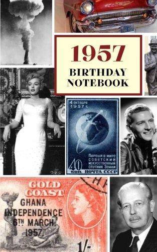 1957 Birthday Notebook: a great alternative to a birthday card