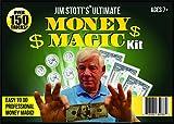 Jim Stott's 'Ultimate Money Magic Kit' Magic Set Featuring Imperial Coins, Nickels to Dimes, Secret Vanishing Device, Magic Money Maker, Coin Thru Glass, Plus Instructional Videos!