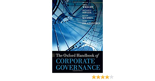 The Oxford Handbook of Corporate Governance (Oxford ...