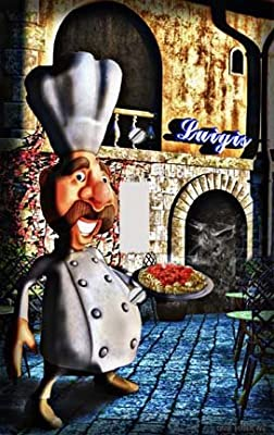 Italian Chef with Pasta Decorative Switchplate Cover