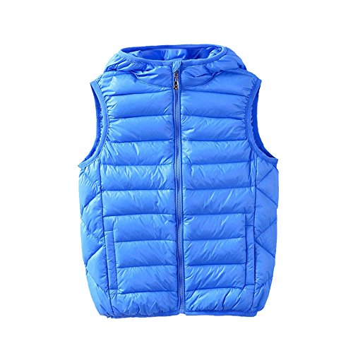 M2C Boys Front Zip Packable Hooded Down Puffer Vest,6/7 - Zip Front Puffer