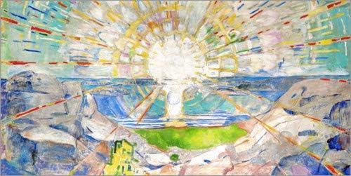 Posterlounge Lienzo 80 x 40 cm: The Sun de Edvard Munch - Cuadro Terminado, Cuadro sobre Bastidor, lámina terminada sobre Lienzo auténtico, impresión en Lienzo