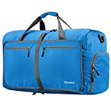 Gonex 80L Packable Travel Duffle Bag, Large Lightweight Luggage Duffel (Blue)