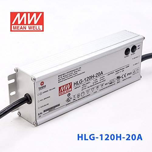 Meanwell HLG-120H-20A Power Supply - 120W 20V 6A - IP65 - Adjustable Output