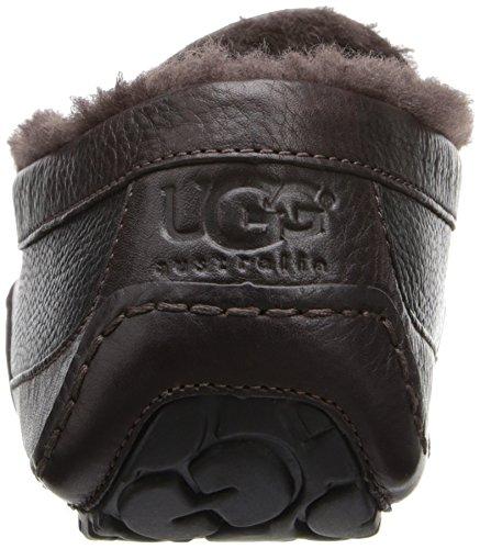 UGG Australia Mens Leather Ascot Slipper (Black/China Tea,12B) Black/China Tea