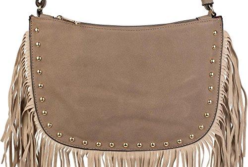 spalla colore donne borchie Cammello tracolla dorate borsa Talpa borsa 02012109 a decorative con borsa e frange styleBREAKER a c1qPZFOW1