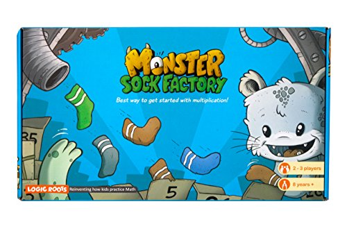 Logic Roots Monster Sock Factory First Step To Multiplication Montessori Toy Math Manipulative