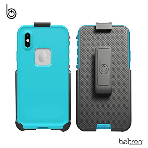 BELTRON Belt Clip Holster Compatible with LifeProof FRE iPhone Xs Max Case (case not Included) - Features: Secure Fit, Quick Release Latch, Durable Rotating Belt Clip & Built-in Kickstand