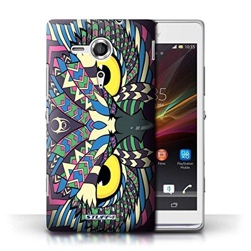Etui / Coque pour Sony Xperia SP/C5303 / Hibou-Couleur conception / Collection de Motif Animaux Aztec