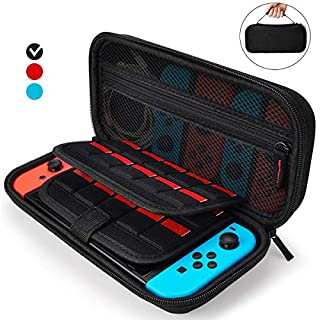 AURXONS Carrying Case for Nintendo Switch with 21 Games Cartridge, Protective Travel Carry Case Pouch for Nintendo Switch Console Accessories