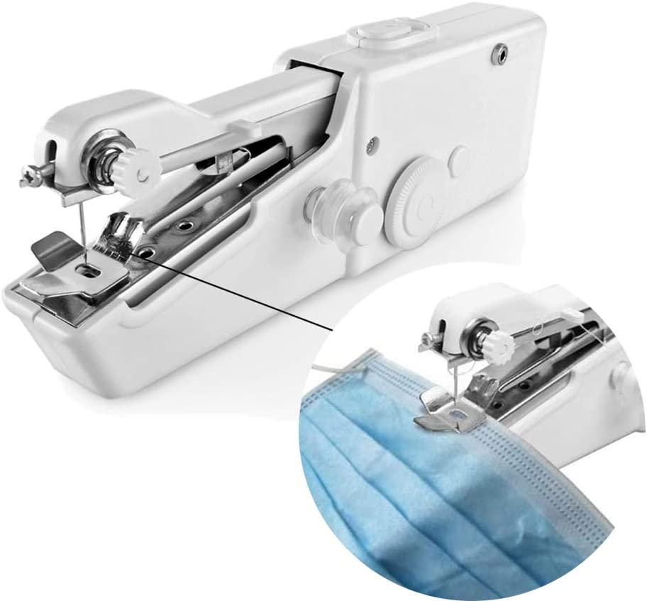 Handheld Sewing Machine,Mini Portable Electric Stitching Machine Fabric Clothing Cordless Craft Sewing Machine for Home Travel