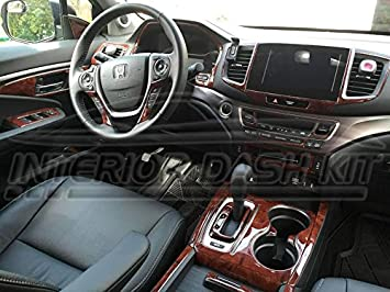 2018 honda pilot interior. plain pilot honda pilot interior burl wood dash trim kit set 2016 2017 2018 to honda pilot interior