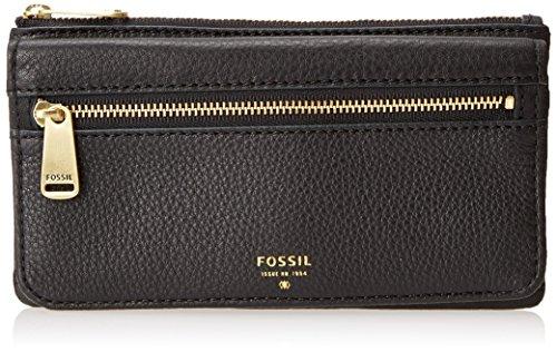 Fossil Preston Flap Wallet, Black, One Size