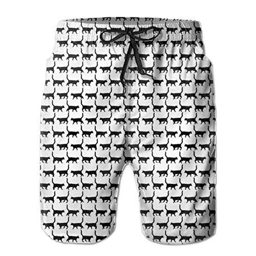 Fashion Swim Trunks Men's Board Shorts Black Cats