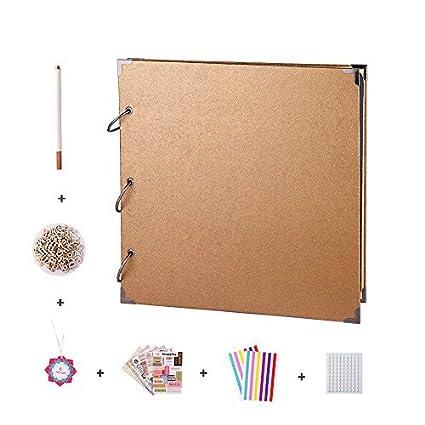 Amazon Facraft 12x12 Scrapbook Album And Accessories Gold