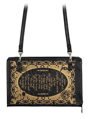Strap 5x6cm 23x14 Book Spells Black With Clutch Detachable Of Bag Shoulder wvqS10wU