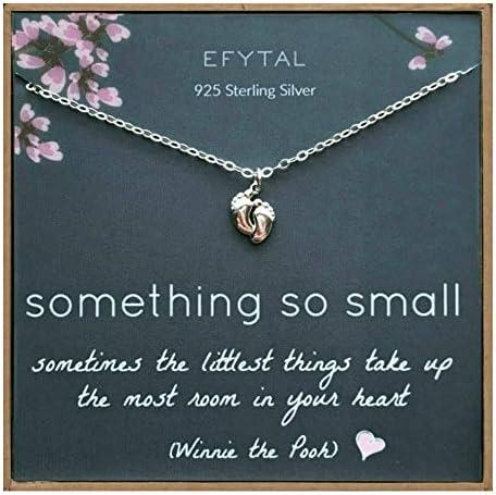 EFYTAL Sterling Baby Feet Necklaces