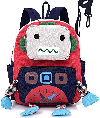 Backpack Robot - Infant Kid Backpack with Leash Robot Boy with Strap Animal Daycare Preschool Bag