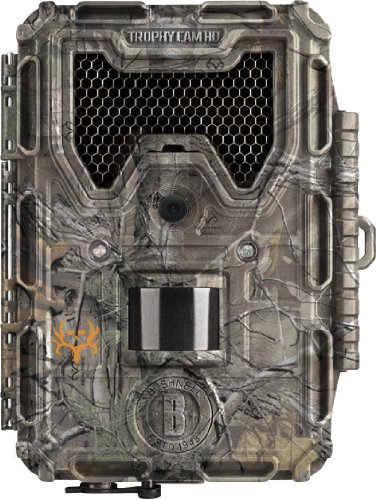 Bushnell 8MP Trophy Cam HD Bone Collector Edition LED Trail Camera with Night Vision, Black