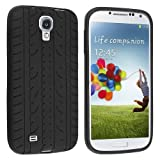 JKase Tire / Tyre Tread Design Ultra Slim Silicone Protective Soft Gel Case for Samsung Galaxy S4 I9500 – Retail Packaging (Black), Best Gadgets