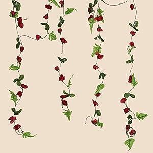 BalsaCircle 48 ft Mini Silk Rose Garlands - 8 Garlands - Wedding Party Centerpieces Arrangements Bouquets Supplies 27