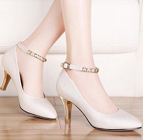Mme Spring chaussures d'ascenseur fines avec des chaussures à talons hauts dame chaussures pointues bouche peu profonde avec des chaussures Mme , US6 / EU36 / UK4 / CN36