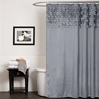 Lush Decor Lillian Shower Curtain, 72 by 72-Inch, Gray