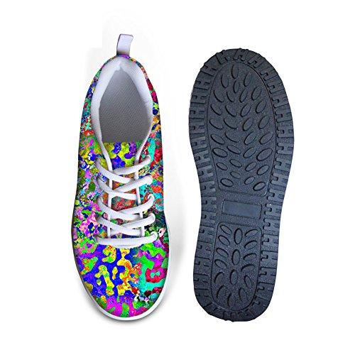 För U Designar Färgglad Graffiti Womens Komfort Kilar Plattform Promenadskor Multi B1