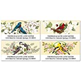 Birds & Blossoms Self-Adhesive, Flat-Sheet Deluxe Address Labels (4 Designs)