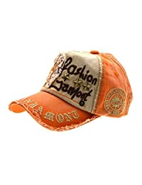 Letter Patch Rivets Casual Baseball Cotton Cap & Fashionable Outdoor Hat For Male And Female-orange, iParaAiluRy