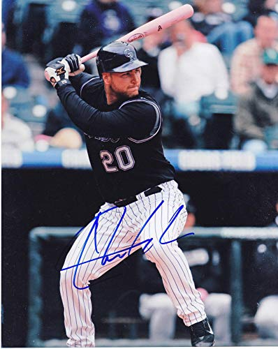CHRIS IANETTA COLORADO ROCKIES ACTION SIGNED 8x10 - Autographed MLB Photos