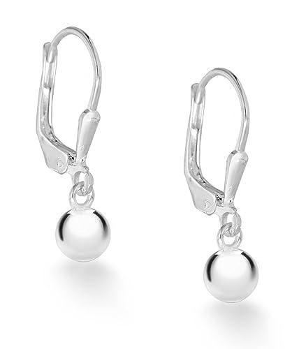 Tuscany Silver 10mm Ball Drop Earrings OxjlgQ