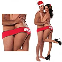 Holiday Fundies - Festive Undies For Two - Underwear With Four Leg Holes - Red