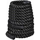 """Toolsempire 1.5"""" Width 40ft Length Poly Dacron Battle Rope Workout Training Undulation Fitness Cardio Exercise Ropes Core Abdominal Strength Trainers"""