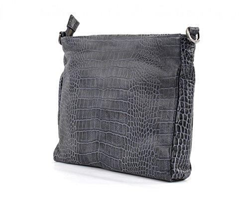 FredsBruder Croco Crush Shoulder Bag anthracite