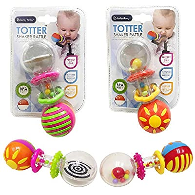 Leebaby Baby Shaker Rattle Grab and Spin Rattle Bead Barbell Musical Toys Color May Vary: Home & Kitchen