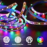 living room decoration ideas RGB Led Strip Lights,Tenmiro 32.8foot Sync To Music Color Changing Light Strips,12V 600 Unit SMD 3528 LED,Flexible Non-Waterproof Tape Light,Decoration For Living Room Bedroom Bar Party Holiday