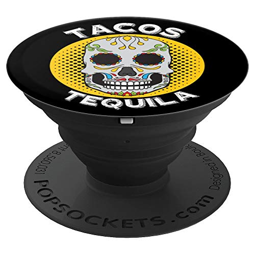 Funny Tacos and Tequila Sugar Skull Halloween -