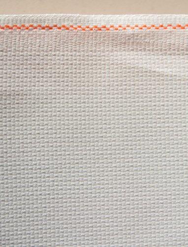 Weiß Zweigart Aida-Stoff für Kreuzstich, 5,5 Stiche/cm, 110 x 50 cm, 43 Zoll)