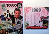 1989 Wedding Anniversary Gifts Set - 1989 DVD Film , 1989 Chart Hits CD and 1989 Greeting Card