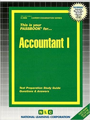 Accountant I(Passbooks) (Career Examination Passbooks)
