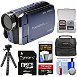 Bell & Howell DV30HD 1080p HD Video Camera Camcorder (Blue) 16GB Card + Case + Flex Tripod + Kit