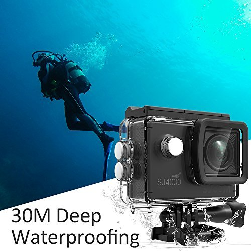 Action Camera SJCAM SJ4000 WIFI FHD1080P waterproof Underwater Camera 12MP Sports Camcorder 2.0 LCD Screen Display -Black by SJCAM (Image #2)